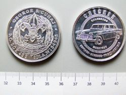 Aluminum Medal of George S. Cuhaj from the United States