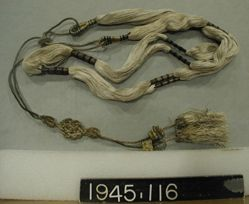 Belt(?) of silk and metal thread
