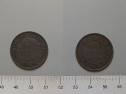 1 Cent from London with Victoria, Queen of Great Britain