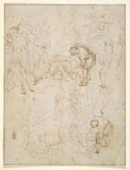 Studies for a Conversion of Saul and an Entombment