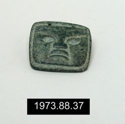 Square pendant, with representation of face