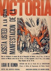 Asista usted a la gran manifestación de la victoria (Attend the Great Demonstration for Victory)