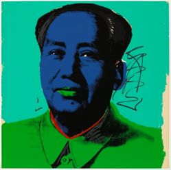 Mao, in a portfolio of ten: Navy blue face