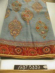 Embroidered satin skirt