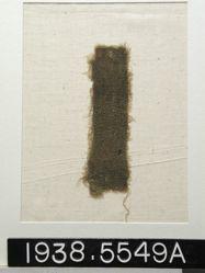 Textile, plain olive green fragment