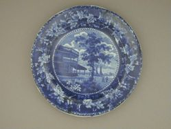Plate with a view of New York, Battery (Flagstaff Pavilion)