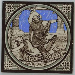 "One of a set of Minton tiles: ""Guinevere"""