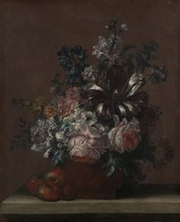 Still Life with Flowers and Fruit (Apples?)