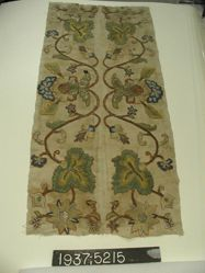 Textile Fragment with Palmettes and Floral Scrolls