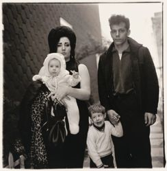 A young family in Brooklyn going for a Sunday outing, New York City