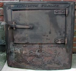 """Stove fronts, """"United We Stand, Divided We Fall"""" Elizabeth Furnace"""