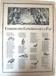 Corrido del congreso de la paz (Ballad of the Congress of Peace)