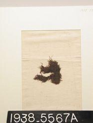 Textile, fr of plain purple cloth