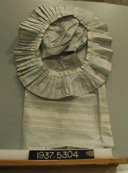 Apron of silk compound cloth