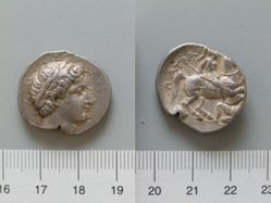 Drachm of Patraus from Paeonia