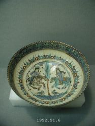 Bowl with Two Equestrians