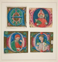 Four Cuttings from an Antiphonary with Initial Letters