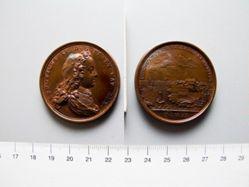 Bronze Medal from France of Louis XV- Founding of Louisberg