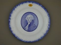 Plate with a portrait of Washington