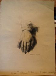 Study of Anatole France's Right Hand