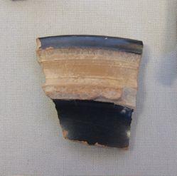 Black glazed plate fragment