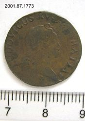 1 Liard of Louis XV, King of France from Reims