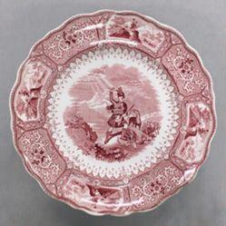 """Plate, """"Caledonia"""" Pattern"""