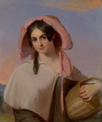 Elizabeth Cook (Mrs. Benjamin Franklin Bache) as The Country Girl