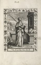 Saint Euphemia, 1 of 25 plates from the series Martyrologium Sanctarum Virginum (Female Martyr Saints)