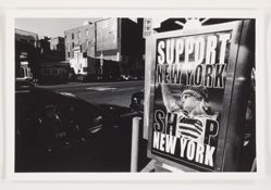 "Untitled [""Support New York, Shop New York""], from After 9/11; 152 gelatin silver prints"