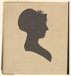Silhouette of Miss Alsop