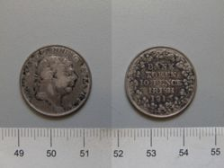 10 Pence of George III, King of Great Britain from London