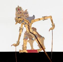 Shadow Puppet (Wayang Kulit) of Tuguwasesa, from the consecrated set Kyai Nugroho