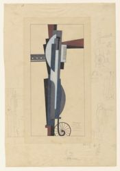 Design for a cinema. Man with Megaphone, II 1926