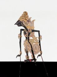 Shadow Puppet (Wayang Kulit) of Wisnu, from the consecrated set Kyai Nugroho