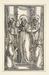 Book Illustration with Three Saints
