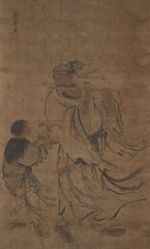 Daoist Immortal Han Xiangzi with an Attendant