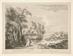 Landscape with Ruins, from a series of 4