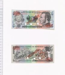 5 Lempiras of El Banco Central de Honduras from Honduras
