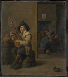 Bagpiper in an Inn