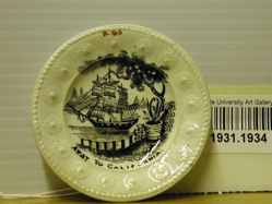 "Cup Plate, ""Away to California"""