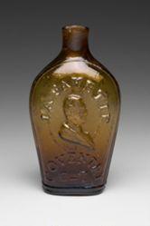 Flask Depicting the Marquis de Lafayette