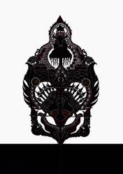 Shadow Puppet (Wayang Kulit) of Gunungan Pancasila or Kayon Pancasila