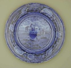 Plate with a view of the Capitol, Washington