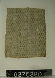 Textile Fragment with Staggered Leaves