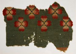 Wool Fragment with Colorful Pattern