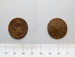 1 Liard of Louis XVI, King of France from Aix