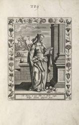 Saint Dorothy, 1 of 25 plates from the series Martyrologium Sanctarum Virginum (Female Martyr Saints)