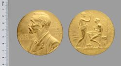 Gold Nobel Prize Medal for Literature presented to Sinclair Lewis