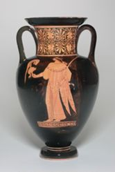 Nolan Amphora showing Athena and Hermes